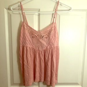 American Eagle Light Pink Flowy Cami.